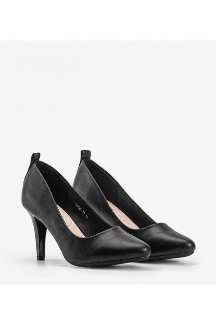 Dámske topánky lodičky čierne kód S9042-1P - GM