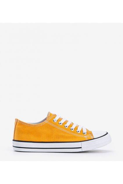 Dámske topánky tenisky žlté kód LD8A07 - GM