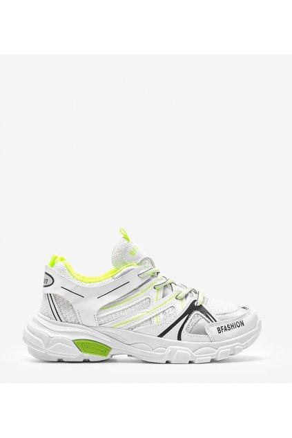 Dámske topánky tenisky biele kód WB603-3 - GM