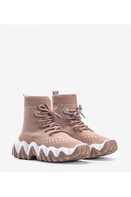 Dámske topánky tenisky hnedé kód PC83 - GM