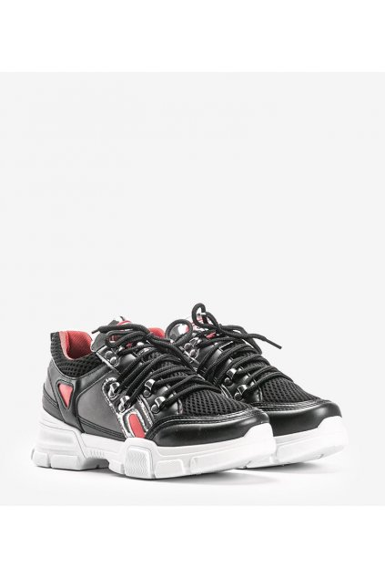 Dámske topánky tenisky čierne kód BK001 - GM