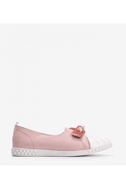 Dámske topánky mokasíny ružové kód YXL2-2 - GM