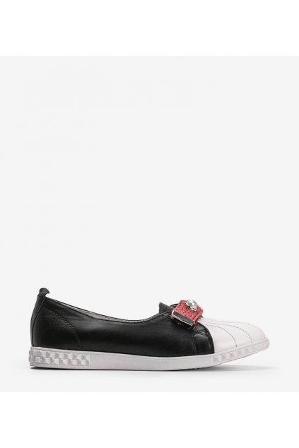 Dámske topánky mokasíny čierne kód YXL2-1 - GM