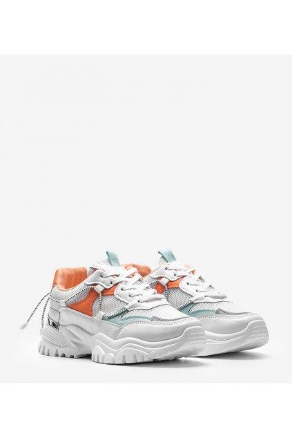Dámske topánky tenisky biele kód J09-5 - GM
