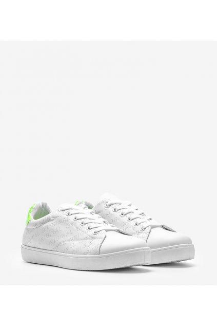 Dámske topánky tenisky biele kód BK931-7 - GM