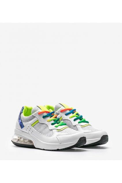 Dámske topánky tenisky biele kód LXC-7978 - GM