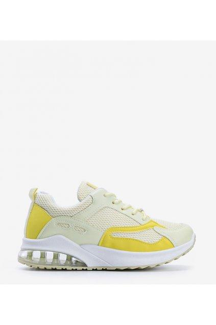 Dámske topánky tenisky žlté kód J146 - GM