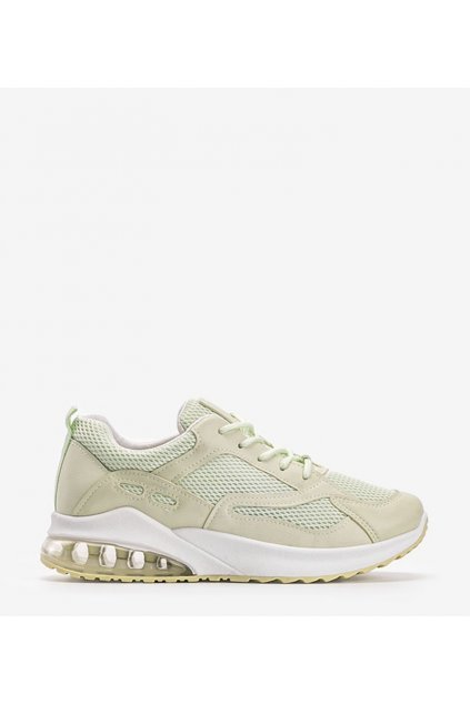 Dámske topánky tenisky zelené kód J146 - GM