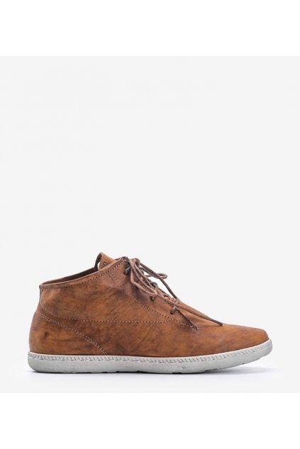 Dámske členkové topánky hnedé kód 5969 - GM