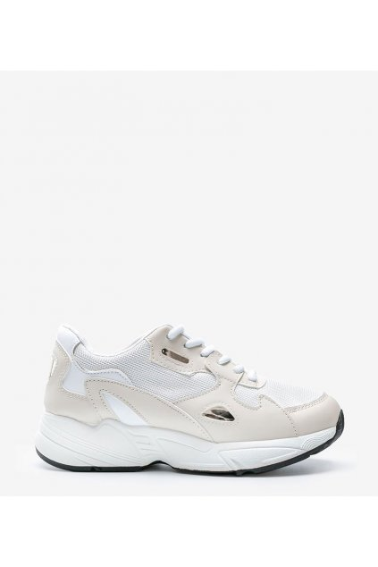 Dámske topánky tenisky biele kód R-02 - GM