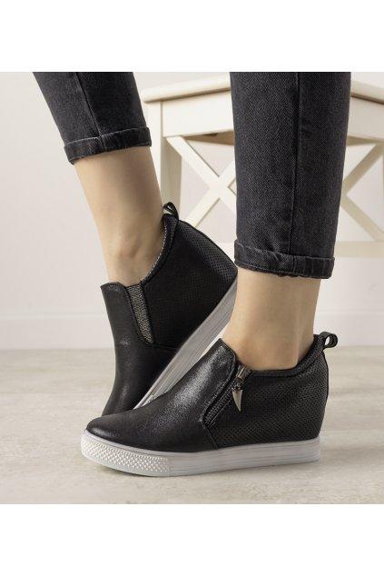 Dámske topánky tenisky čierne kód DD383-4 - GM