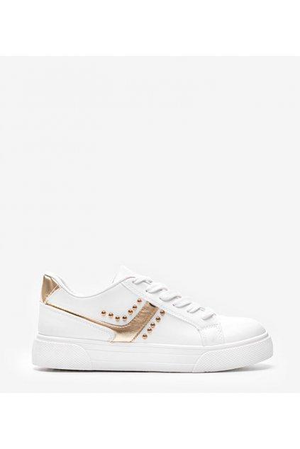 Dámske topánky tenisky biele kód GOLD - GM