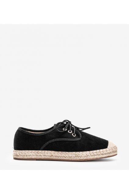 Dámske topánky espadrilky čierne kód 77-196 - GM