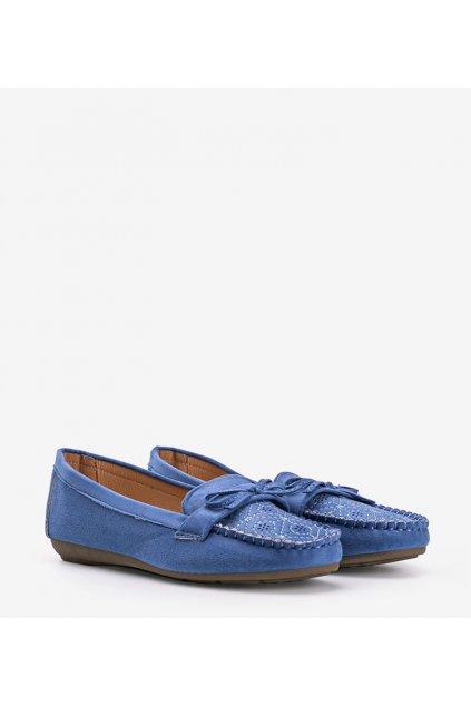 Dámske topánky mokasíny modré kód 1R3-18 - GM