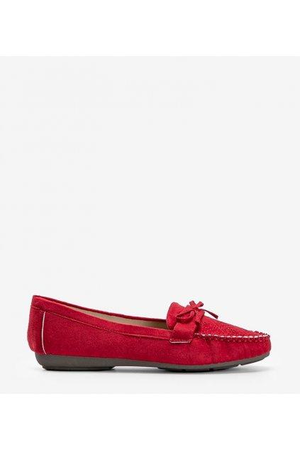 Dámske topánky mokasíny červené kód 1R3-11 - GM