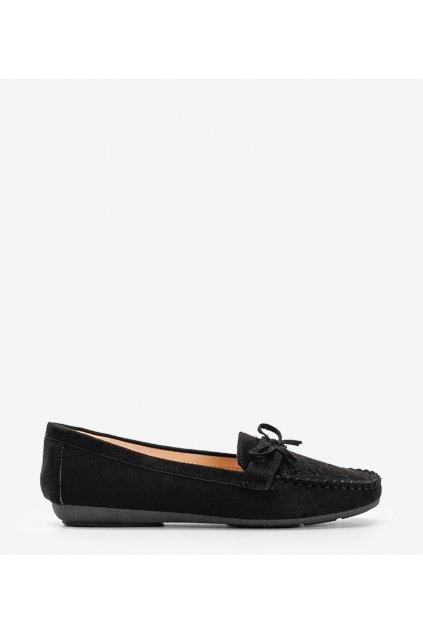 Dámske topánky mokasíny čierne kód 1R3-1 - GM