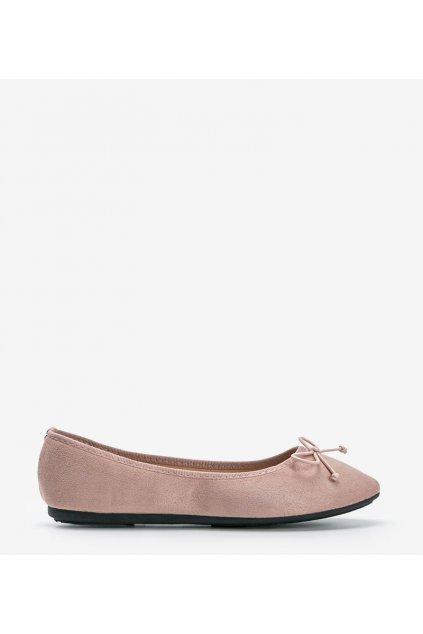 Dámske topánky mokasíny ružové kód 2CE-9490 - GM