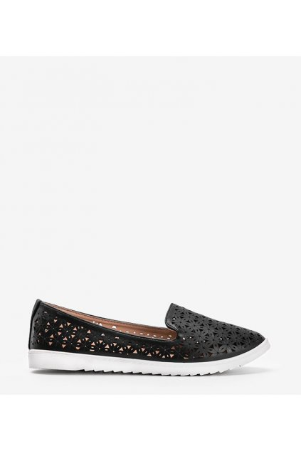 Dámske topánky mokasíny čierne kód DY-03 - GM