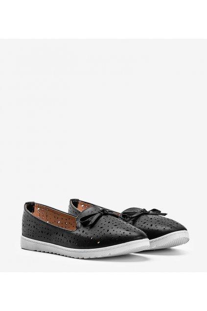 Dámske topánky mokasíny čierne kód DY-05 - GM