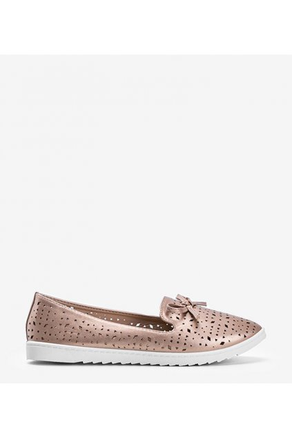 Dámske topánky mokasíny ružové kód DY-05 - GM