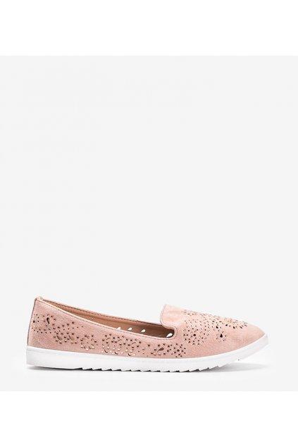 Dámske topánky mokasíny ružové kód DY-09 - GM