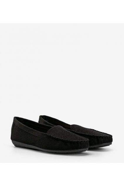 Dámske topánky mokasíny čierne kód 1R6-1 - GM