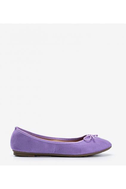 Dámske baleríny fialové kód 1JB-19116 - GM