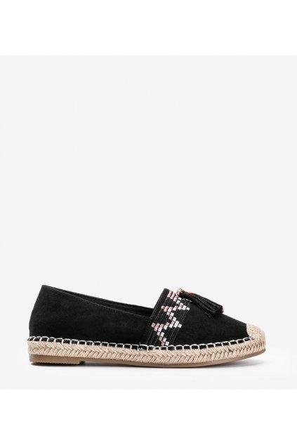 Dámske topánky espadrilky čierne kód LX-3R11-1 - GM