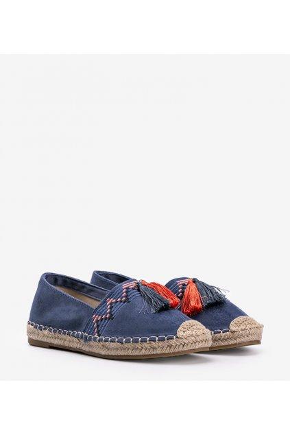 Dámske topánky espadrilky modré kód LX-3R11-18 - GM