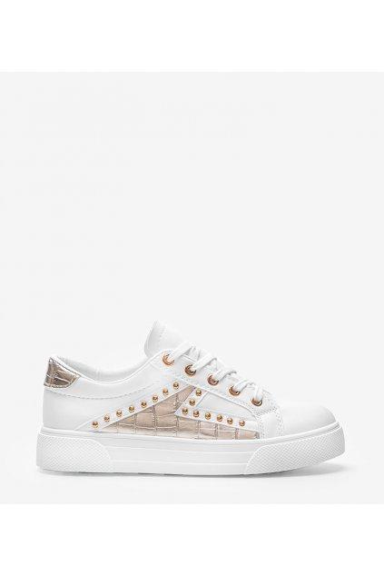 Dámske topánky tenisky biele kód 1062 - GM