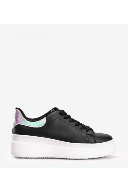 Dámske topánky tenisky čierne kód LA36 - GM
