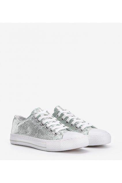 Dámske topánky tenisky zelené kód C938 - GM