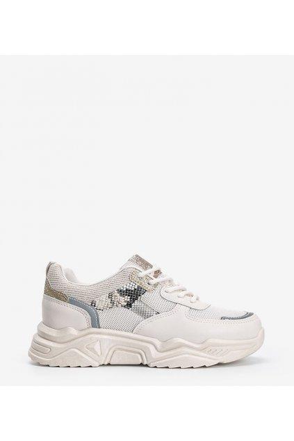 Dámske topánky tenisky hnedé kód H99-55 - GM