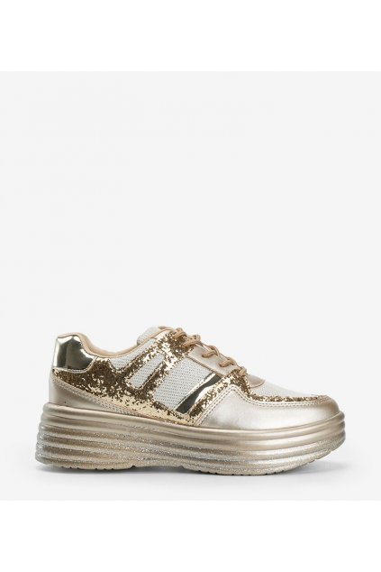 Dámske topánky tenisky žlté kód MD239-1 - GM
