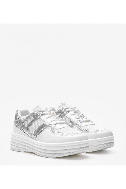 Dámske topánky tenisky biele kód MD239-1 - GM