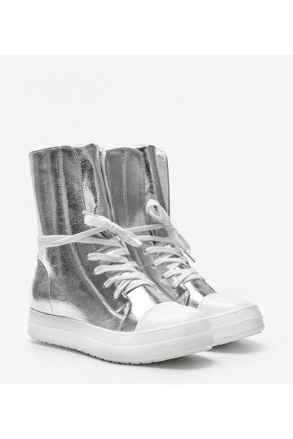Dámske topánky tenisky sivé kód NC43 - GM