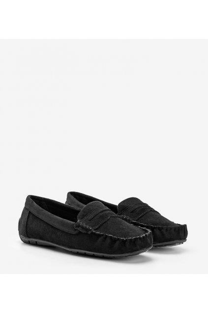 Dámske topánky mokasíny čierne kód T348P - GM