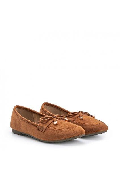 Dámske topánky mokasíny hnedé kód 88-386 - GM