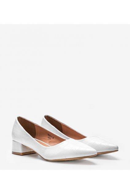 Dámske topánky lodičky biele kód 3845-4 - GM