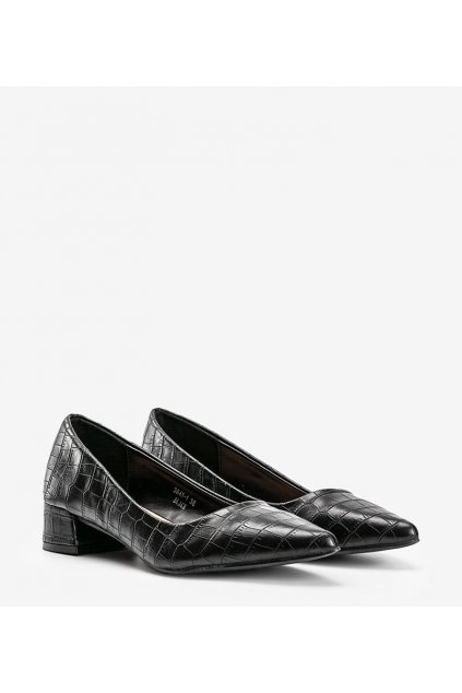 Dámske topánky lodičky čierne kód 3845-1 - GM