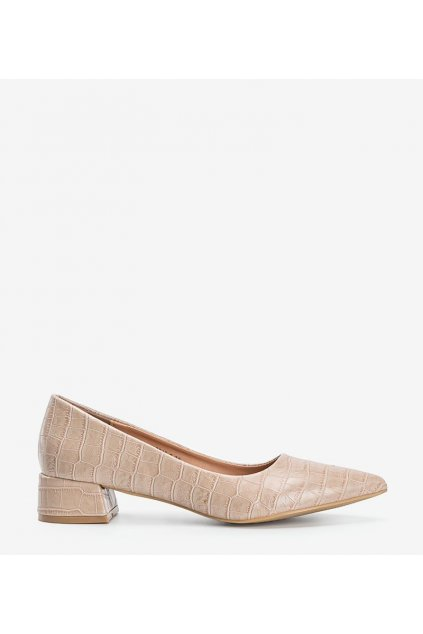 Dámske topánky lodičky hnedé kód 3845-2 - GM