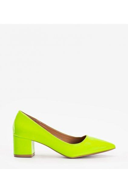 Dámske topánky lodičky žlté kód 3839-4 - GM