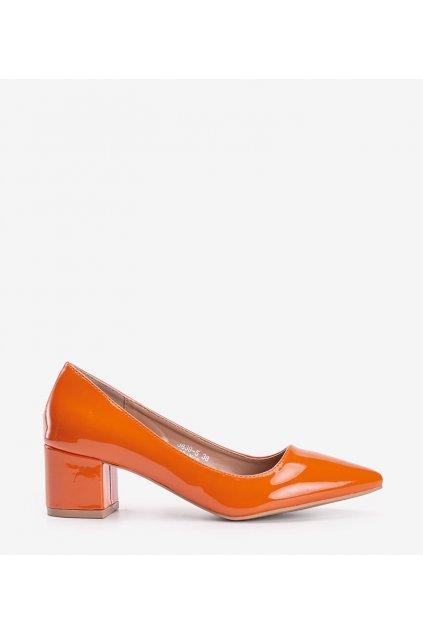 Dámske topánky lodičky oranžové kód 3839-5 - GM