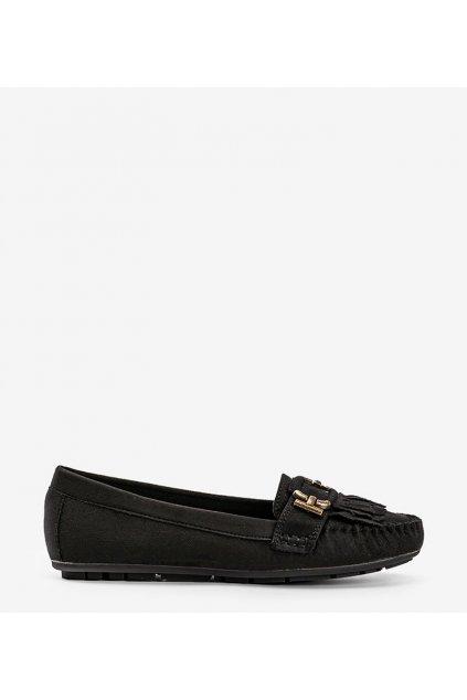 Dámske topánky mokasíny čierne kód H9260 - GM