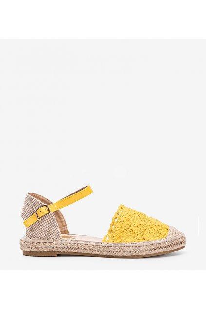 Dámske topánky espadrilky žlté kód LX201 - GM