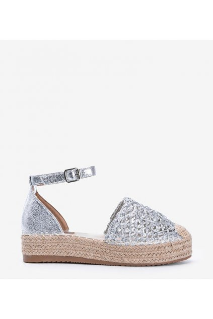 Dámske topánky espadrilky sivé kód 5262-06 - GM