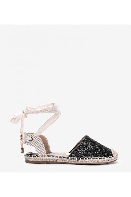 Dámske topánky espadrilky čierne kód A487-SA-1 - GM
