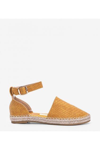 Dámske topánky espadrilky žlté kód MS103 - GM