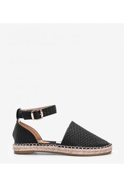 Dámske topánky espadrilky čierne kód MS103 - GM