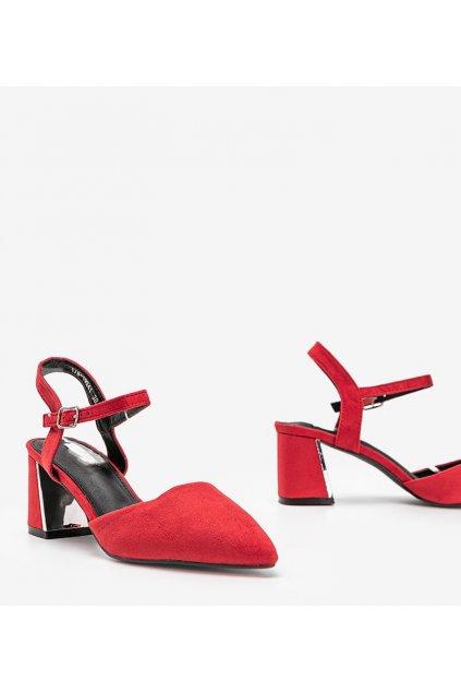 Dámske topánky lodičky červené kód 1JB-19241 - GM